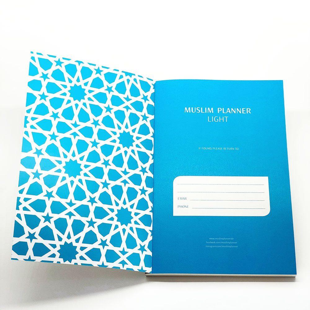 Muslim Planner light - schwarz/blau