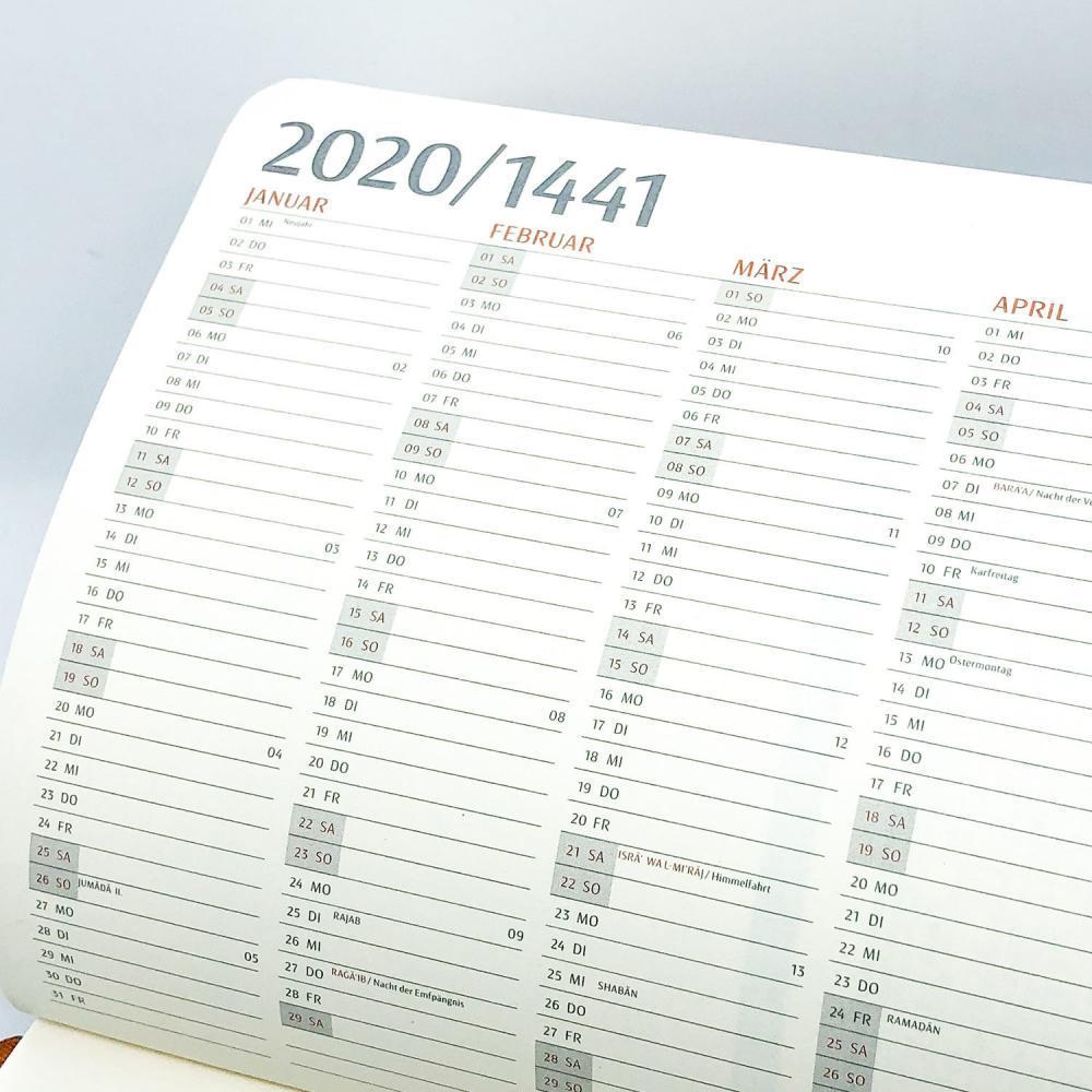 Muslim Planner - Jahresübersicht